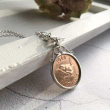 Load image into Gallery viewer, Wren Farthing Silver Scroll Toggle Necklace