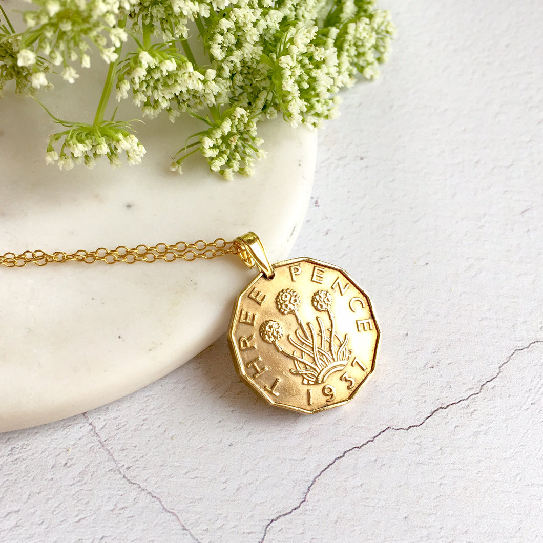 Threepence Necklace Pendant