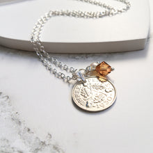 Load image into Gallery viewer, Acorns and Oaks Necklace - Birthstone Edition