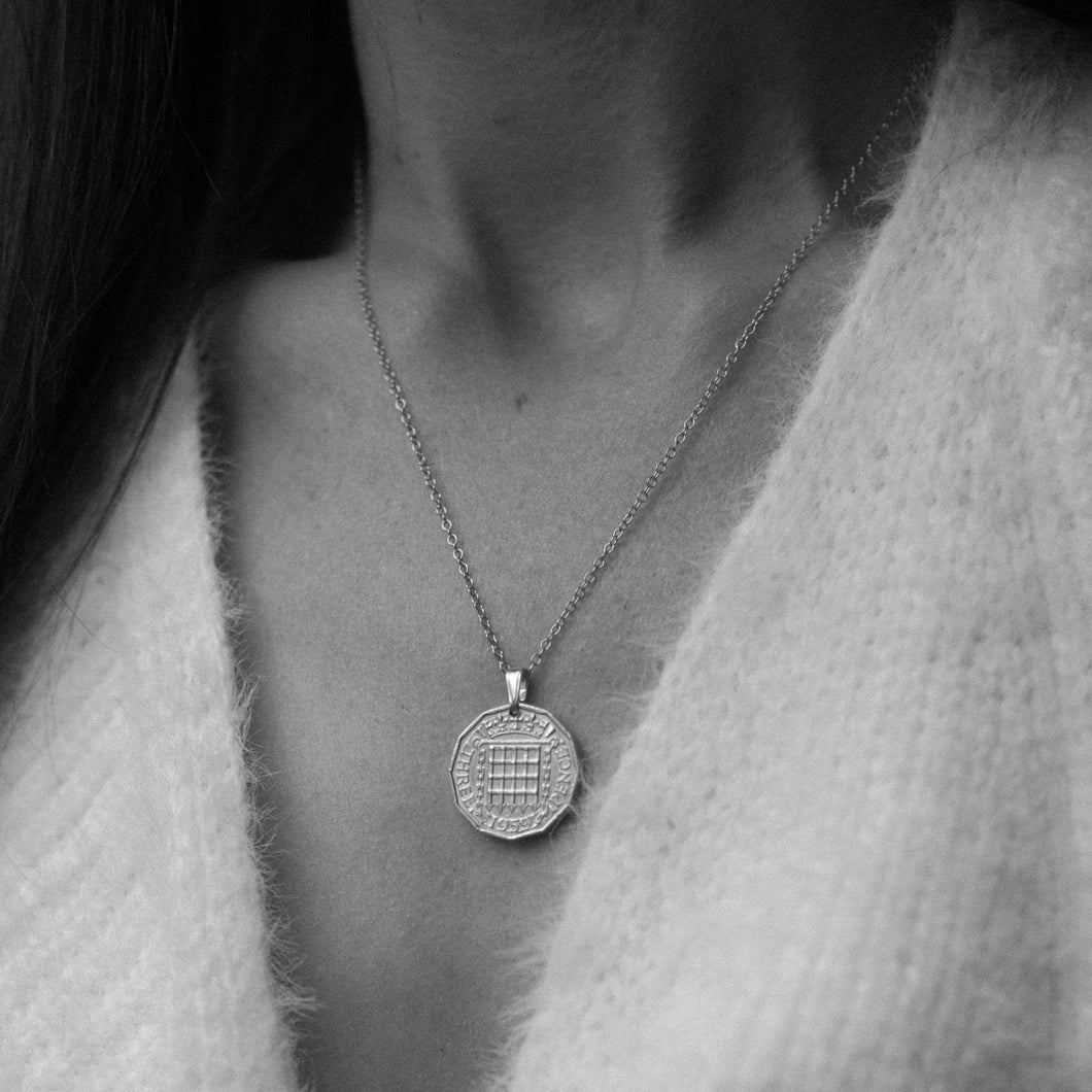 Custom Order for Becca - 1940 Threepence Necklace