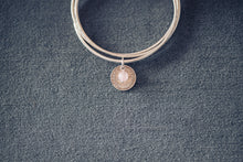 Load image into Gallery viewer, Silver Threepence Infinity Bangle - Sterling Silver Coin Bracelet