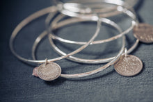 Load image into Gallery viewer, Coin bangle - coin jewellery - by Prenoa