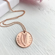Load image into Gallery viewer, 2000 Irish Penny Necklace - Rose Gold