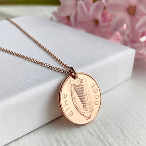 2000 Irish Penny Necklace - Rose Gold