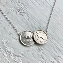 Load image into Gallery viewer, Irish Double Necklace - Bull & Hare