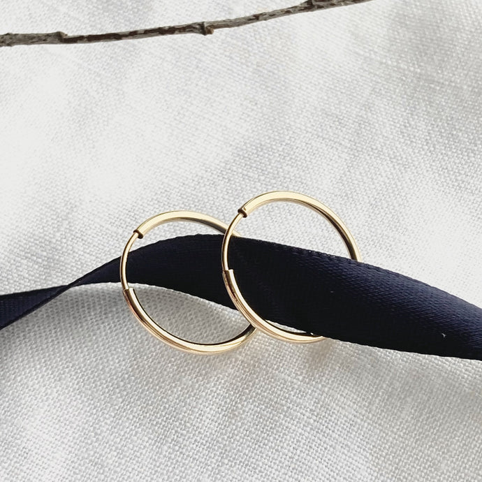 Loving Circle Gold Hoops