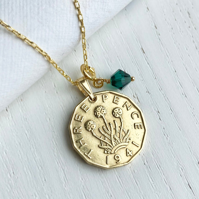 1941 Thrift Threepence - May Birthstone