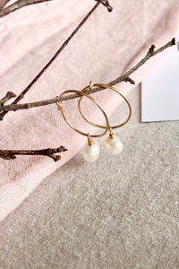Bonds - Gold Filled Pearl Hoops