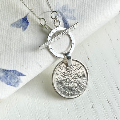 1961 Full Circle Sixpence Pendant