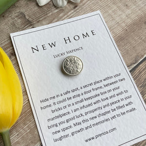 New Home Sixpence - Oak Leaves