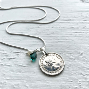 1961 Sixpence - May Birthstone