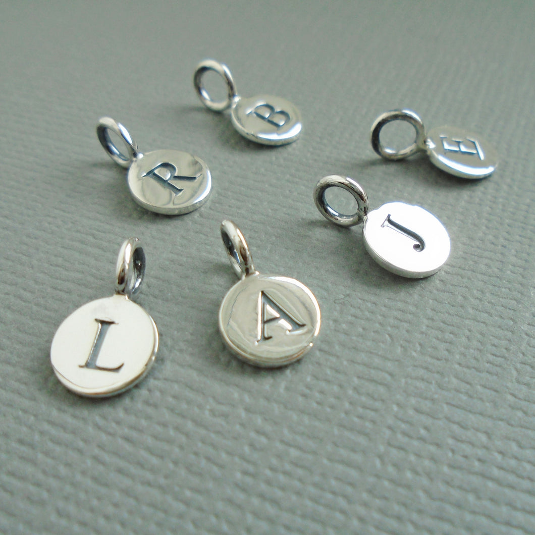 Sterling Silver Initial Charm for Prenoa Necklaces