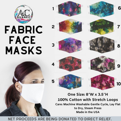 Fabric Face Masks Painting Design - The Creative Gift Shop