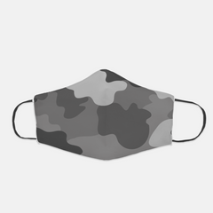 Ear Loop Grey Camouflage Face Mask - The Creative Gift Shop