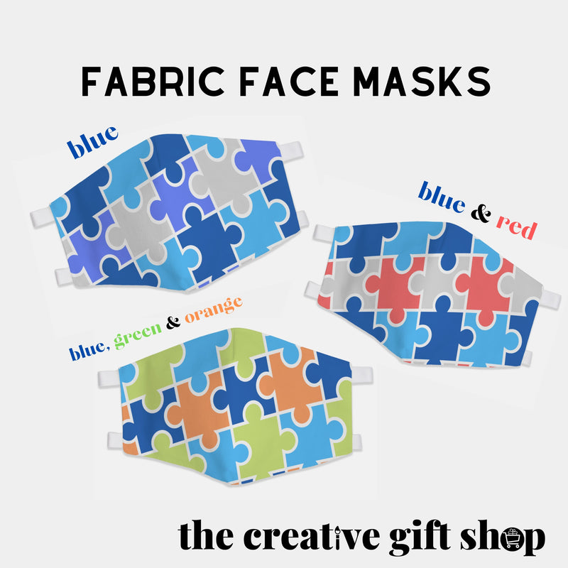 Puzzle Fabric Face Masks - The Creative Gift Shop