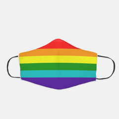 Ear Loop Rainbow Pride Face Mask - The Creative Gift Shop