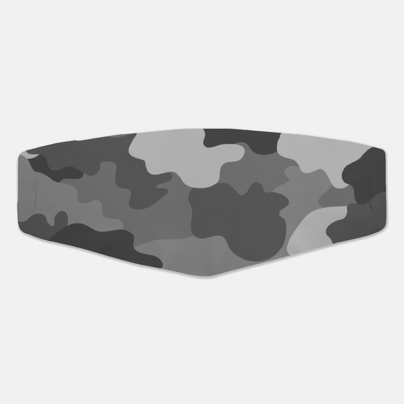 Grey Camo Face Cover - The Creative Gift Shop