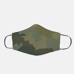 Ear Loop Dark Camouflage Face Mask - The Creative Gift Shop