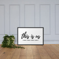 This is us | Personalized Framed Matte Poster - The Creative Gift Shop