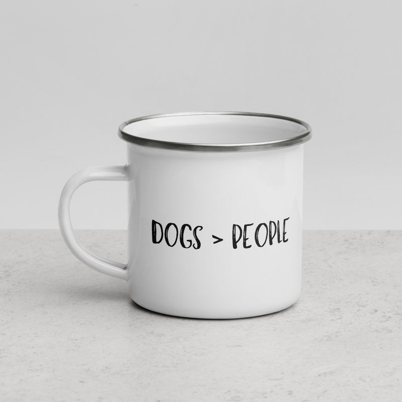 Dogs > People | Camper Enamel Mug - The Creative Gift Shop
