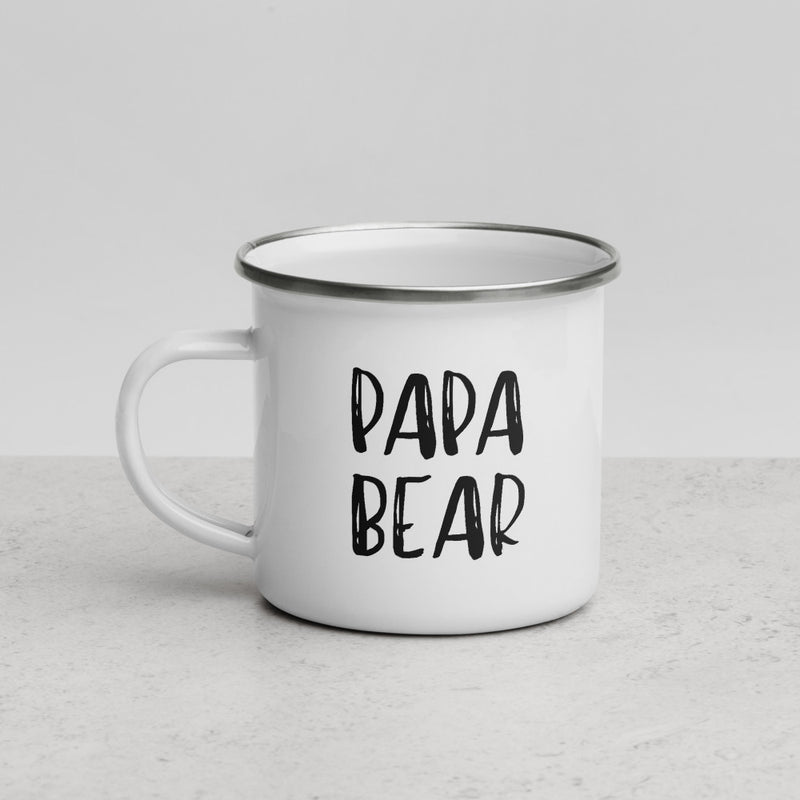 Papa Bear | Camper Enamel Mug - The Creative Gift Shop