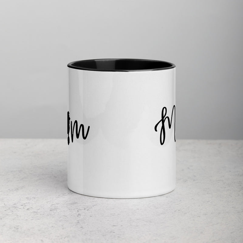 Poodle Mom | Poodle Silhouette | Mug with Color Inside - The Creative Gift Shop