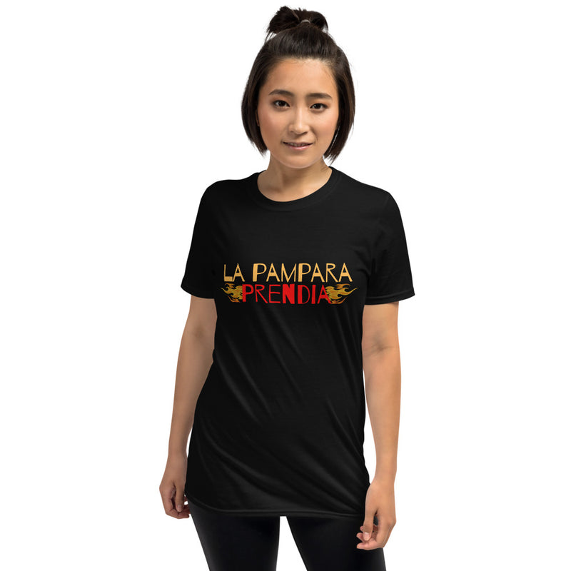 La Pampara Prendia | Dominican Phrase | Short-Sleeve Unisex T-Shirt - The Creative Gift Shop