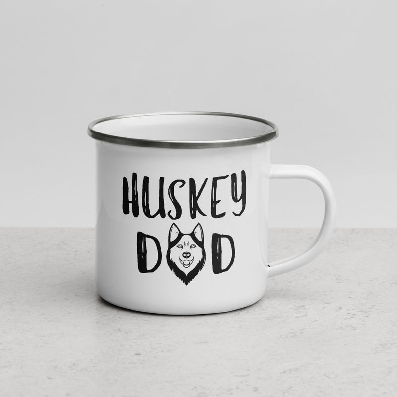 Husky Dad | Camper Enamel Mug - The Creative Gift Shop