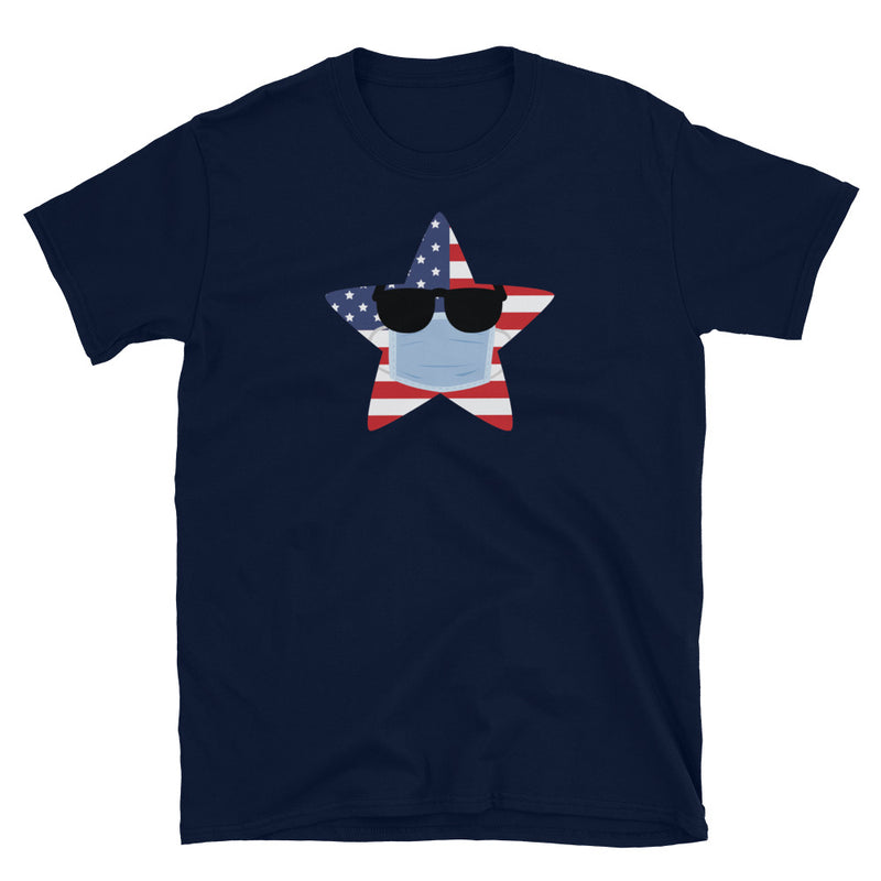Memorial Day 2020 | Quarantined US Flag | Short-Sleeve Unisex T-Shirt - The Creative Gift Shop