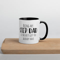 Best Step Dad Gift Mug | Funny | Black Handle & Inside - The Creative Gift Shop