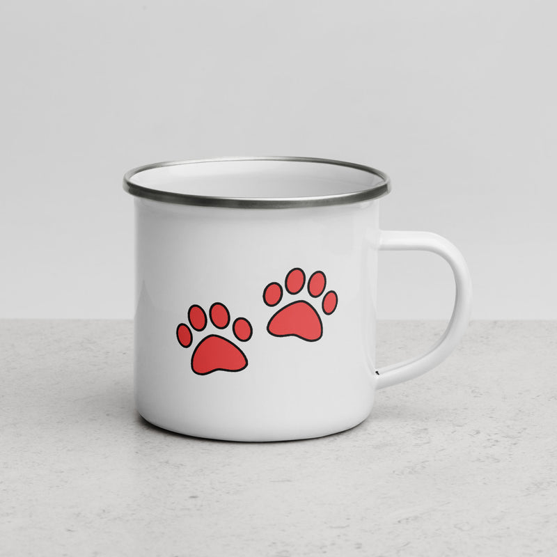 Red Paws | Camper Enamel Mug - The Creative Gift Shop