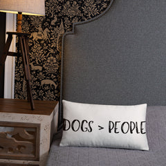 Dogs > People Pillow - The Creative Gift Shop