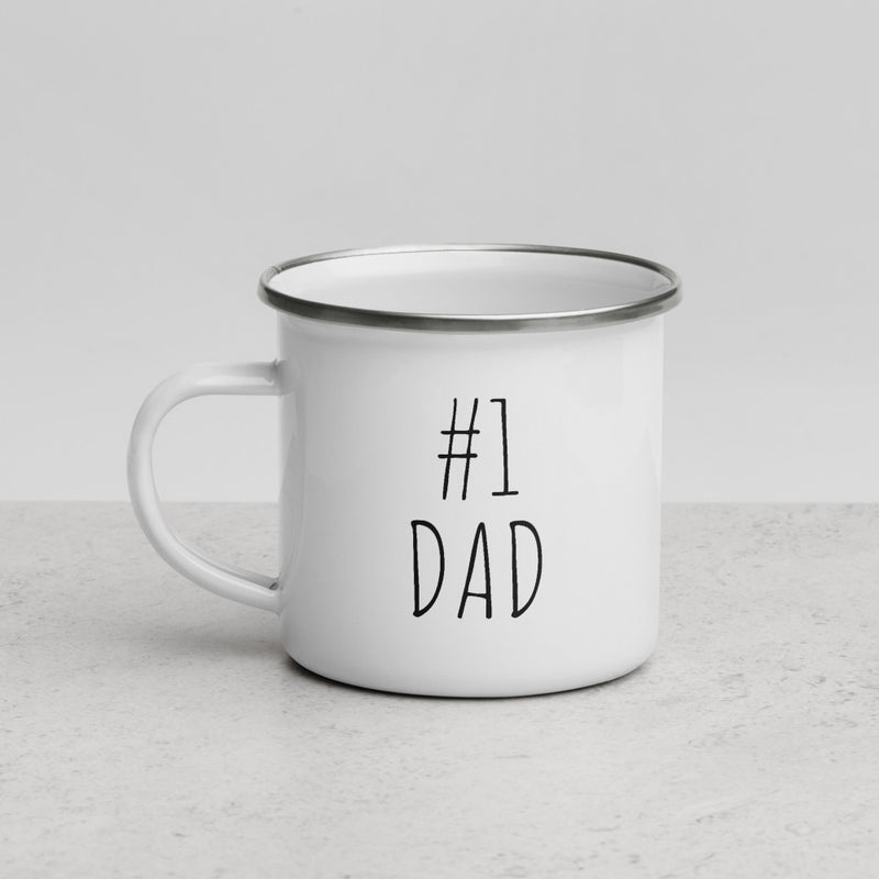 #1 Dad | Camper Enamel Mug - The Creative Gift Shop