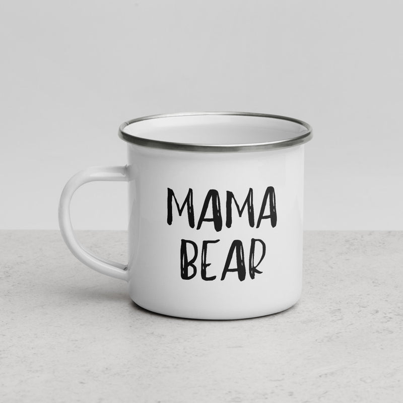 Mama Bear | Camper Enamel Mug - The Creative Gift Shop