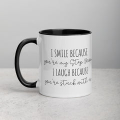 Step Mom Mug | Funny | White Mug with Black Inside & Handle - The Creative Gift Shop