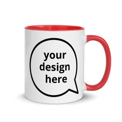 Custom Red & White Ceramic Mug - The Creative Gift Shop