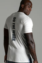 "Load image into Gallery viewer, Men's ""Do The Work"" Performance T-Shirt Ivory"