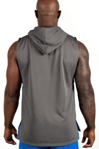 Men's Sleeveless Hoodie, Grey