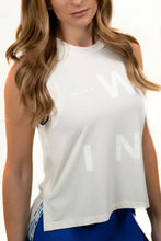 Load image into Gallery viewer, Women's Side Slit WIN Ivory Tank