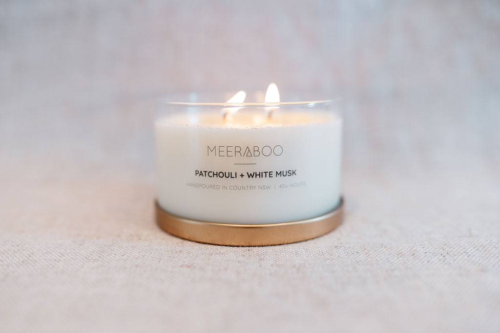Patchouli + White Musk Gold Lid Soy Candle