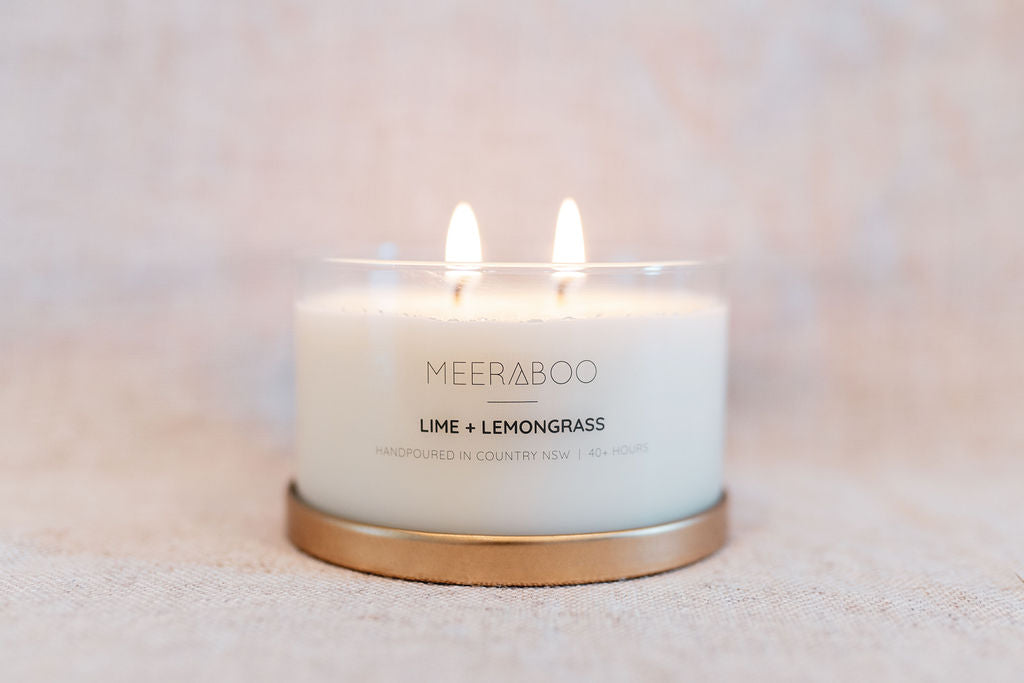 Lime + Lemongrass Gold Lid Soy Candle