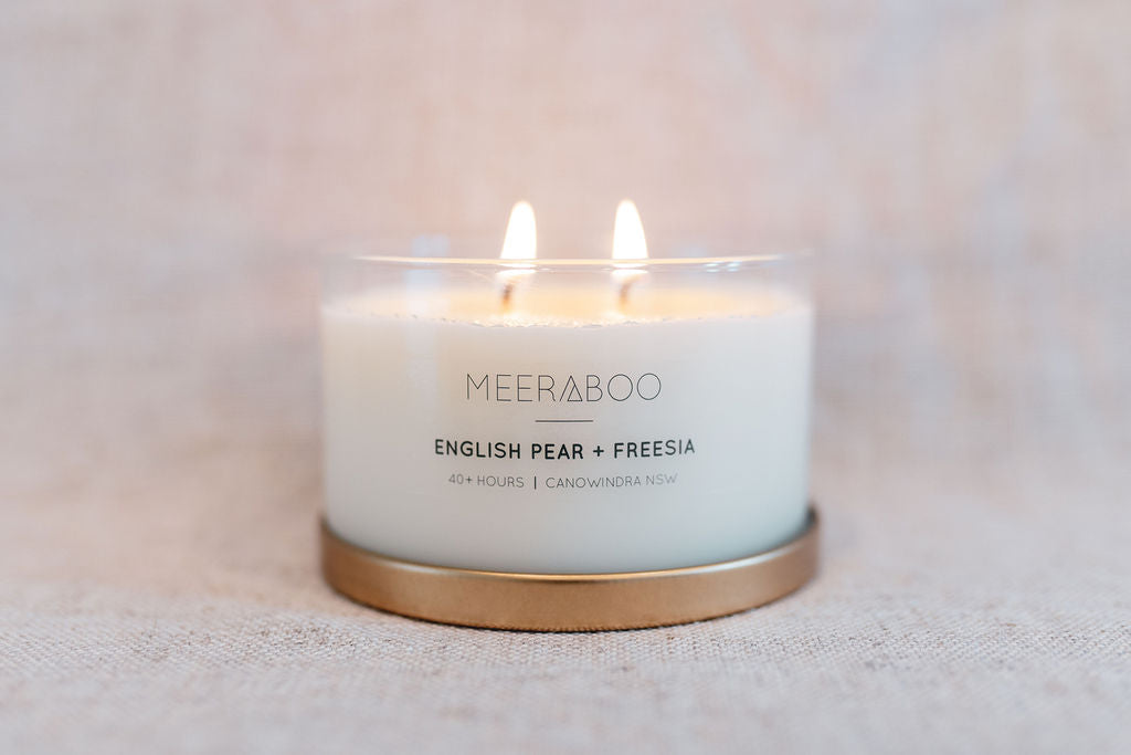 English Pear + Freesia Gold Lid Soy Candle