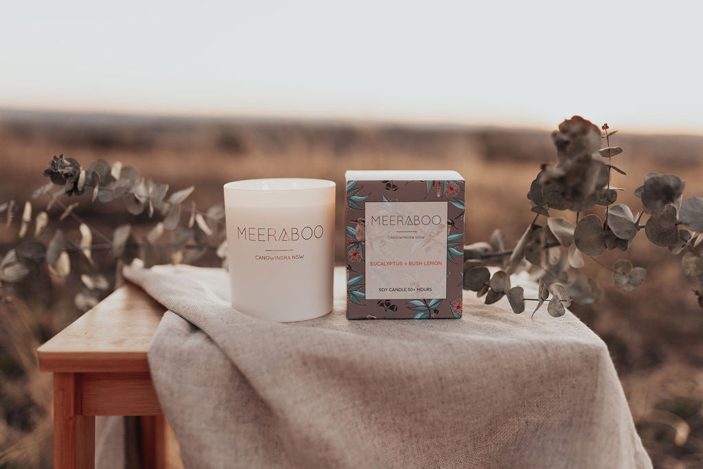 Eucalyptus + Bush Lemon Boxed Soy Candle