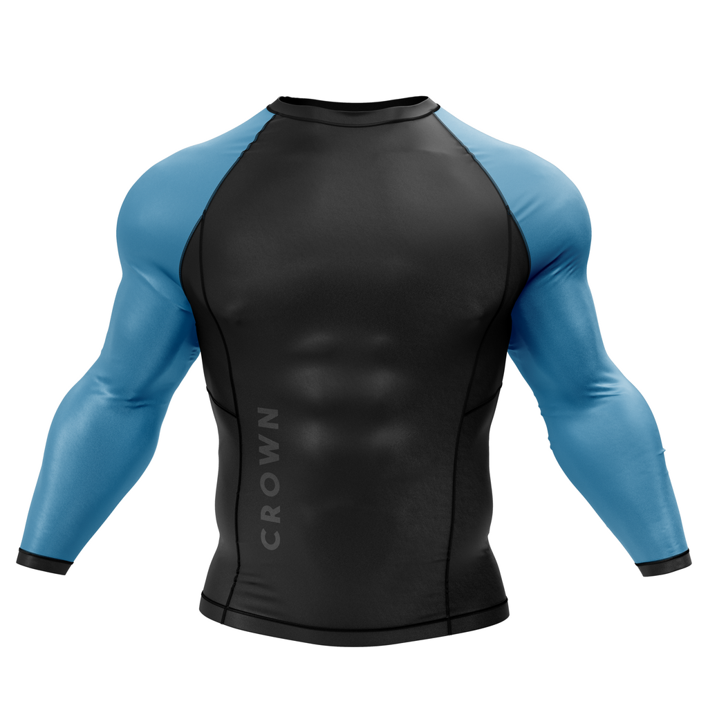 First prototype of the Crown V1.0 rash guard.
