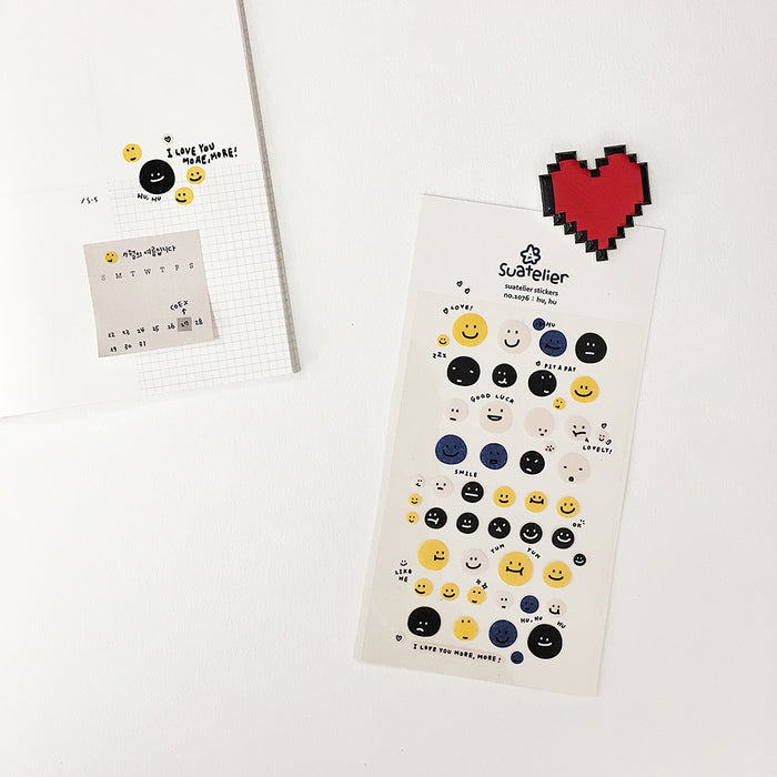 Suatelier | Hu, Hu Sticker Sheet | Script + Sea