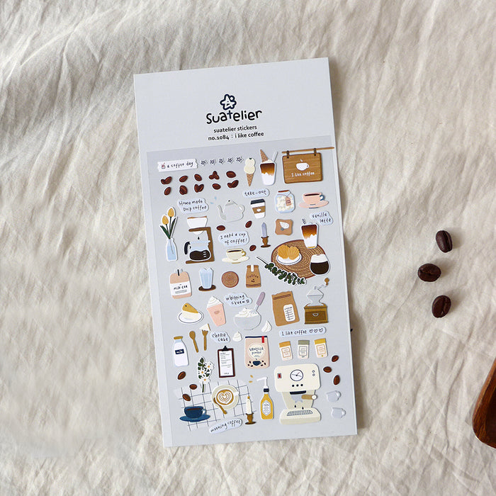 Suatelier | I Like Coffee Sticker Sheet | Script + Sea