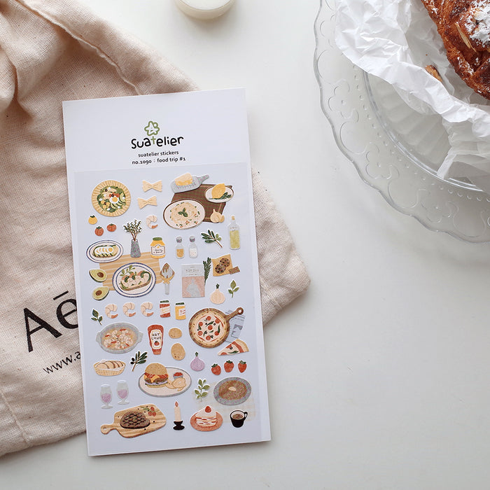 Suatelier | Food Trip Sticker Sheet | Script + Sea