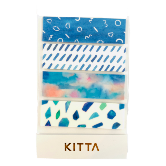KITTA | Bidoro Glaze Washi Tape | Script + Sea