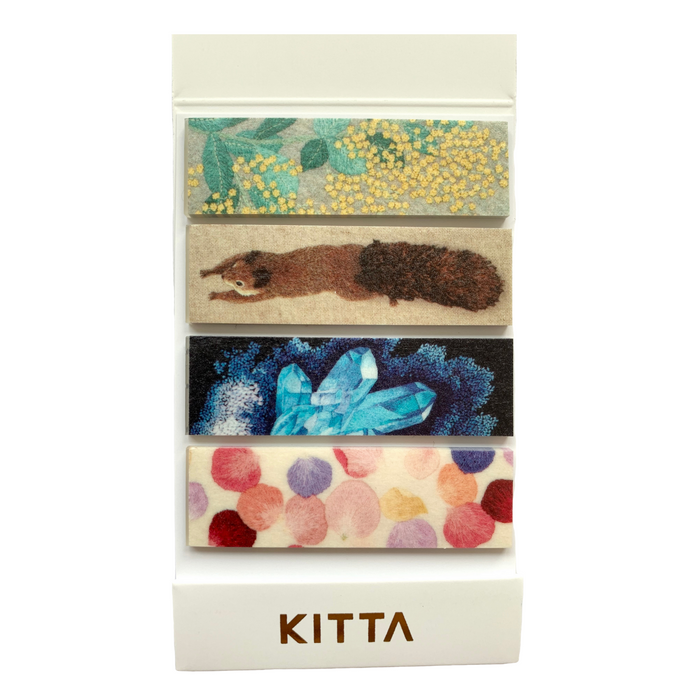 KITTA | Shishu Embroidery Washi Tape | Script + Sea