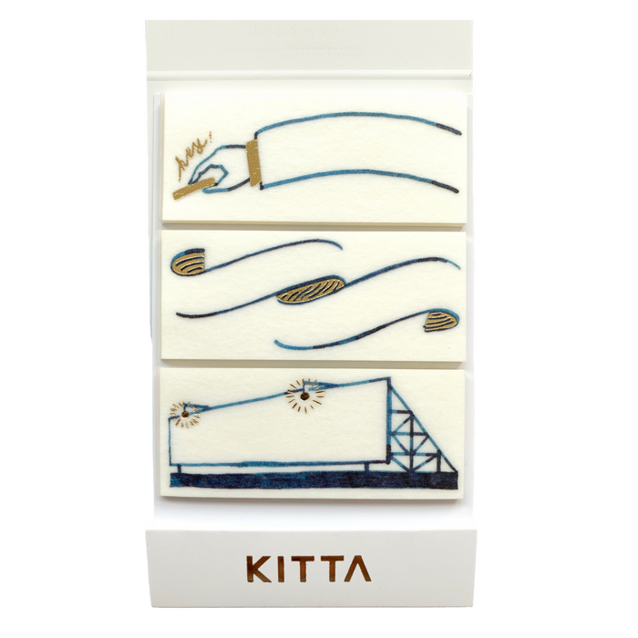 KITTA | Frame Washi Tape | Script + Sea